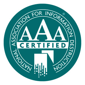 NAID AAA Certfication